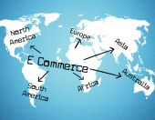 World E Commerce Represents Buying Commercial And Sell — Stock Photo
