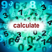 Calculation Mathematics Represents One Two Three And Maths — Stock Photo