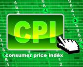 Consumer Price Index Represents Web Site And Website — Foto de Stock