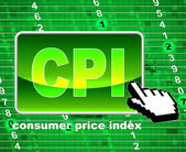 Consumer Price Index Represents Web Site And Website — Stock Photo