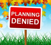 Planning Denied Means Missions Aim And Objective — Stockfoto