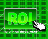 Roi Online Indicates Investor Websites And Shares — Stock Photo