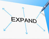 Big Expand Represents Increase In Size And Enlarge — Stock Photo