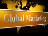 Global Marketing Shows World Sales And Selling — Stock Photo