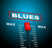 Blues Music Represents Jazz Band And Audio — Zdjęcie stockowe