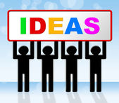Ideas Idea Means Conception Invention And Innovation — Stock Photo