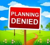 Planlama reddedilmiş ve reddetti gösterir inkar engellendi — Stok fotoğraf