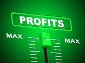 Profits Max Shows Upper Limit And Top — Stock Photo