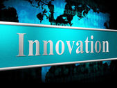 Ideas Innovation Indicates Innovations Inventions And Creativity — Stock Photo