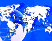 Global Success Shows Victory Globalise And Globalize — Stock Photo
