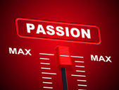 Passion Max Represents Upper Limit And Ceiling — Stock Photo