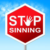 Stop Sinning Represents No Restriction And Sinner — Stock Photo