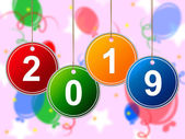 New Year Shows Two Thousand Nineteen And Annual — Stockfoto