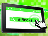 E Books Represents World Wide Web And Websites — Stock Photo