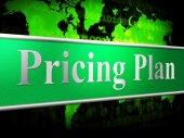 Pricing Plan Means Proposal Procedure And Idea — Stock Photo