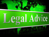 Legal Advice Means Judgment Solution And Court — Stock Photo