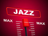 Jazz Music Indicates Sound Track And Audio — Zdjęcie stockowe