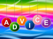 Advice Advisor Indicates Recommendations Advisory And Help — Stock Photo