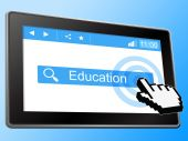 Education Online Means World Wide Web And Studying — Stock Photo