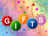 Gift Gifts Represents Greeting Surprises And Celebrate — Stock Photo