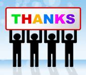 Thank You Means Many Thanks And Grateful — Stock Photo