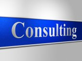 Consult Consulting Indicates Refer To And Ask — Photo
