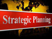 Strategic Planning Represents Business Strategy And Innovation — Stock Photo