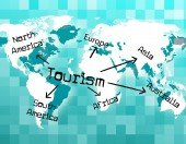 Worldwide Tourism Shows Tourist Vacationing And Voyages — Stock Photo