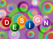 Design Designs Represents Plans Creations And Layouts — Stock Photo