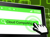 Cloud Computing Shows Network Server And Communication — Stock Photo