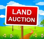 Land Auction Indicates Winning Bid And Auctioning — Stock Photo