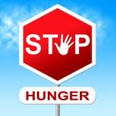 Hunger Stop Means Lack Of Food And Control — Stock Photo