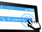 E Learning Indicates World Wide Web And College — Stock Photo