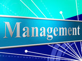 Manage Management Represents Authority Manager And Boss — Stock Photo
