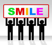 Joy Smile Represents Friendliness Cheerful And Positive — Stock Photo