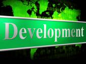 Develop Development Shows Evolution Forming And Enlargement — Stock Photo