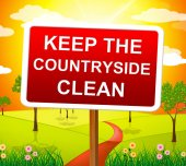 Keep Countryside Clean Means Pristine Clear And Landscape — Zdjęcie stockowe