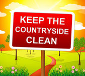 Keep Countryside Clean Means Pristine Clear And Landscape — Stockfoto