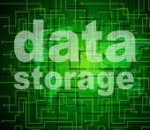 Data Storage Represents Bytes Technology And Filing — Stock Photo