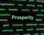 Rich Prosperity Represents Riches Treasure And Wealth — Stock Photo