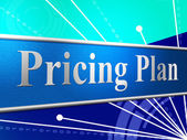 Pricing Plan Represents Stratagem Strategy And Idea — Stock Photo