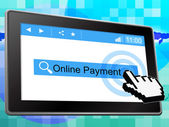 Online Payment Represents World Wide Web And Amount — Stock Photo
