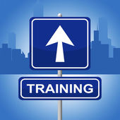 Training Sign Represents Direction Lesson And Webinar — Stock Photo