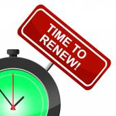 Time To Renew Shows Fix Up And Modernize — Stock Photo