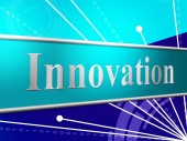 Innovation Ideas Indicates Creativity Revolution And Reorganization — Stock Photo