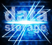 Data Storage Represents Knowledge Filing And Server — Stock Photo