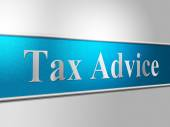 Tax Advice Means Excise Helps And Faq — Foto de Stock