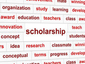 Scholarship Educate Means College Learned And Certificate — Stock Photo