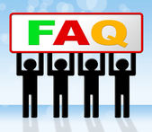 Frequently Asked Questions Means Answer Info And Asking — Stock Photo