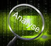 Magnifier Analyse Indicates Data Analytics And Analysis — Stock Photo